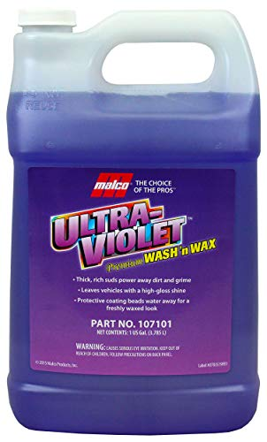 Malco Ultra Violet Premium Wash'n Wax – Best 2-in-1 Car Wash and Wax/Cleans and Provides A Durable, High-Gloss Shine in One Fast and Easy Step / 1 Gallon (107101)
