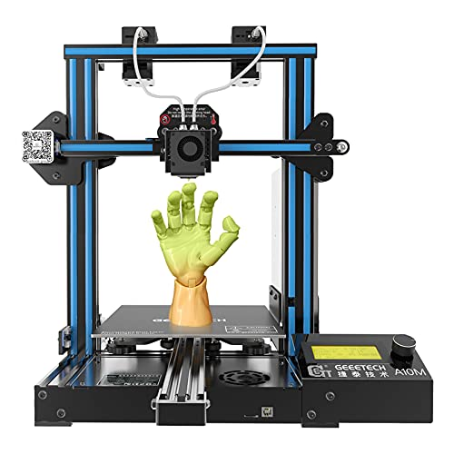 GIANTARM Upgrade A10M Mix-Color Dual Extruder 3D Printer with Easy Assembly, Resume Printing, Filament Detector and Build Volume as 220x220x260mm