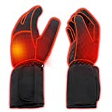 Rabbitroom Mens Winter Electric Heated Gloves AA Battery Power Heating Gloves Warm Thermal