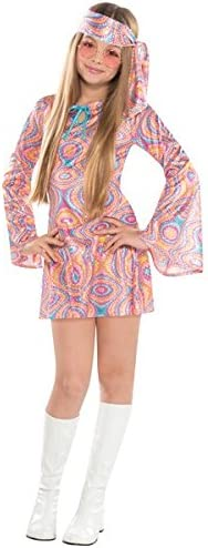 60s 70s Kids Costumes & Clothing Girls & Boys Suit Yourself Disco Diva Halloween Costume for Girls Includes Headscarf  AT vintagedancer.com