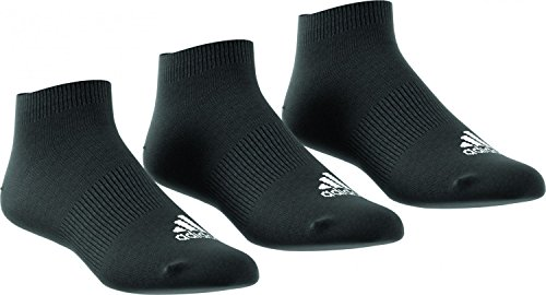 Adidas AA2312 Chaussettes Mixte Enfant, Noir, FR : M (Taille Fabricant : 3942) , Lot de 3