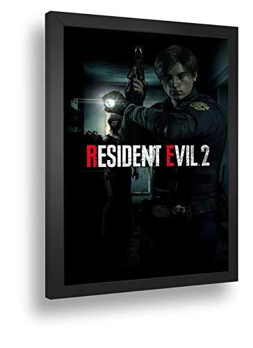Quadro Decorativo Poste Resident Evil 2 Remake Leio Retro