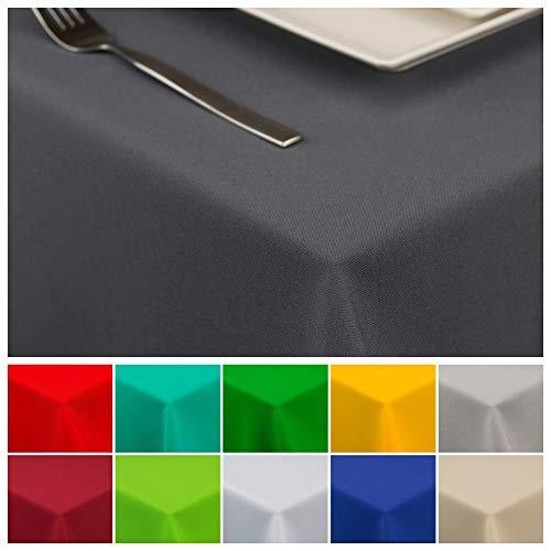 StoffTex Tischdecke Tischläufer Tischtuch Tischwäsche Tischdekoration Tafeltuch (Graphit, 100 x 100 cm)