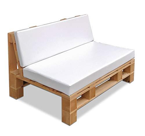 Sofá Palet Exterior/Interior Cepillado, Lijado y Pintado + colchonetas. Medida: 120x80
