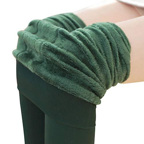 BESTOYARD Invierno cálido Polar Forrado Polainas Calcetines Calcetines Calientes térmicas Gruesas Polainas Negras Inferior para Mujeres niñas