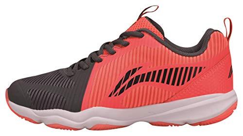 Li Ning AYTN062-2 Ranger TD Badmintonshoe/Casual Shoe Women Neon Red/Black Gr.36 1/3 US 6
