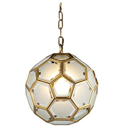 IT Creativo di arte di personalità Lampadario Hexagon bambini di vetro camera da letto del lampadario a bracci del portico Luci Calcio Lampade