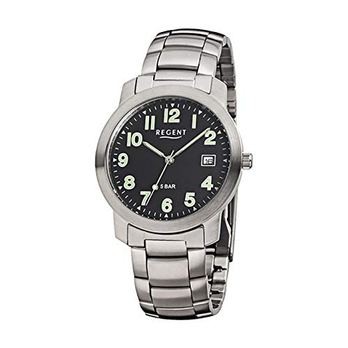 Regent signore orologio da polso in acciaio inox 1220.42.97F643