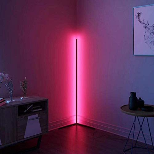 WFWPY RGB Stehlampe 20W LED Deckenfluter Dimmbar Stehleuchte zum im Wohnzimmer Schlafzimmer Büro, RGBCW, 2700K-6500K, mit Fernbedienung (RGB - Stehleuchte) [Energieklasse A++]