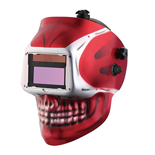 KOOLWOOM Solar Power Auto Darkening Welding Helmet Skull Design