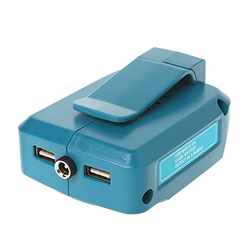 JHD Convertidor Adaptador de Carga de energía USB para batería de Iones de Litio MAKITA ADP05 14-18V Nuevo
