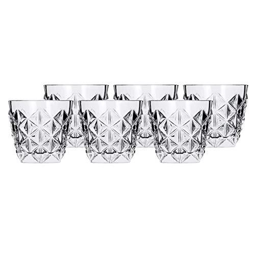 Juego de 6 vasos de whisky en cristal Luxion 25752020006 de la colección Enigma de RCR de 370ml.