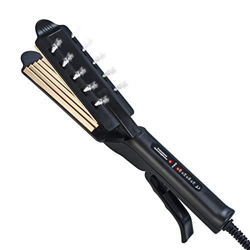 Volumizing Hair Iron Hair Haarglätter und Crimper, Professional Volumizing Haarglätter & Keramik Kreppeisen & Lockenstab