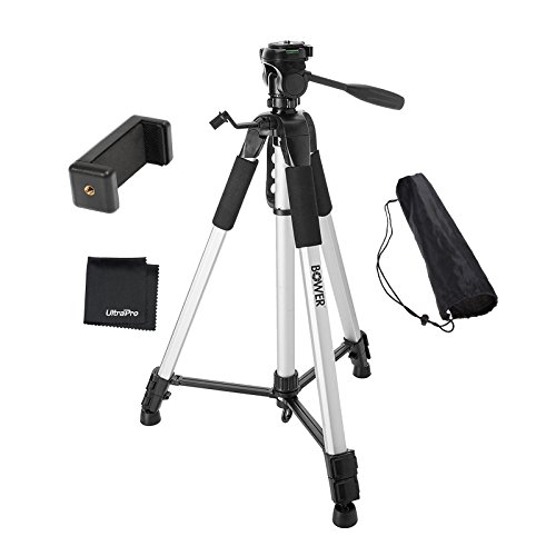 """UltraPro 72"""" Inch Heavy-Duty Aluminum Camera Tripod with Universal Smartphone Mount for iPhone, Samsung, and All Smartphones, Includes UltraPro Microfiber Cleaning Cloth"""
