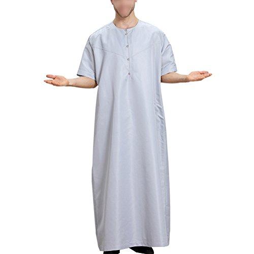 Hzjundasi Muslim Arabisch Mittlerer Osten Kurzarm Solid Color Herren Robes Saudi Stil Dishdasha Ethnische Kleidung Pakistan Hindu Jüdisch islamisch Kaftan,TH809