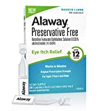 Alaway Eye Drops, Preservative Free Antihistamine Eye Drops for up to 12 Hours of Eye Itch Relief, 20 Single-Dose Vials,20 Count (Pack of 1)