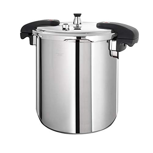 Buffalo QCP420 21-Quart Stainless Steel Pressure Cooker [Classic series]