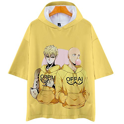 One Punch Man Season 2 3D Impresión Anime Hoodie T-Shirt Cosplay Manga Corta Camiseta Verano Pullover Tops Sudadera Con Capucha S