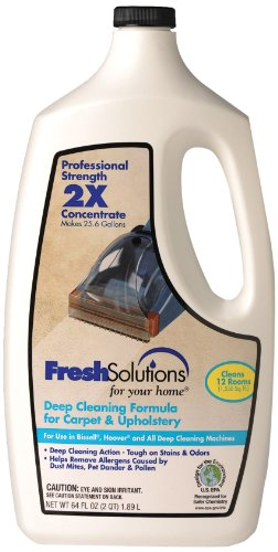 Fresh Solutions 2X Professional Strength Carpet & Upholstery Formula for Use in All Deep Cleaning Machines, Certified Safer Choice