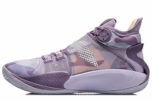 LI-NING Sonic Ⅸ Professional Basketball Shoes Light Foam Lining Sport Sneakers Orchid Petal ABAR011 US 8