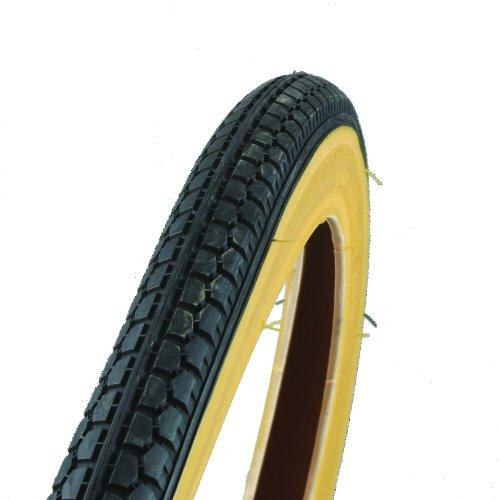 FISCHER Fahrradreifen Straߟe, schwarz/ braun, 26 x 1,75, 60019