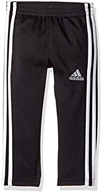 adidas Boys' Big Tapered Trainer Pant, Black, Large by Adidas Children's Apparel (LT) Replen