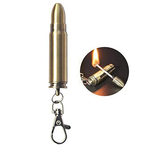 Permanent Metal Match Lighter Forever Keychain Lighter Waterproof Match EDC Emergency Matchstick Survival Flint Fire Starter (Fuel Not Included)