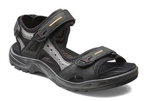 ECCO Men's Yucatan outdoor offroad hiking sandal, Black/Mole/Black, 43 EU (US Men's 9-9.5 M)