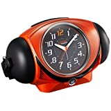 セイコー クロック 目覚まし時計 アナログ 大音量 ベル音 PYXIS ピクシス ULTRA RAIDEN ウルトラライデン オレンジ メタリック NR441E SEIKO