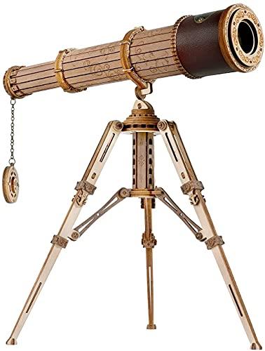 ROKR Puzzle in Legno 3D Telescopio Scienza Monoculare Modellismo da Costruire per Adulti Bambini Sopra i 14 Anni 314 Pezzi,...