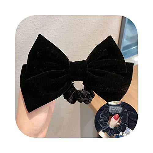 Épingles à cheveux noeud en velours avec clip - 17 cm - Pour femmes et filles