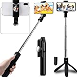 Adofys Selfie Stick Tripod Stand Holder Extendable with Bluetooth Remote Compatible with Samsung