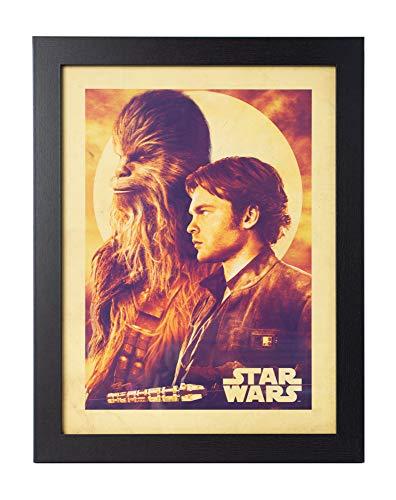 Grupo Erik Print/Bild mit Rahmen, Star Wars Solo Han & Chew, 35 x 45