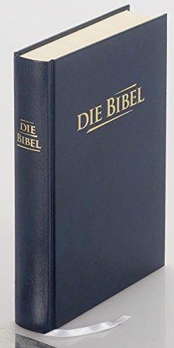 Die Bibel - größere Taschenbibel: Elberfelder Übersetzung 2003, Edition CSV Hückeswagen, Hardcover, Baladeck blau, Blindschnitt, mit Karten