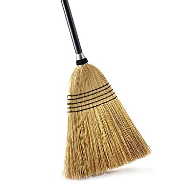 O-Cedar Heavy Duty Commercial 100% Corn Broom with Solid Wood Handle