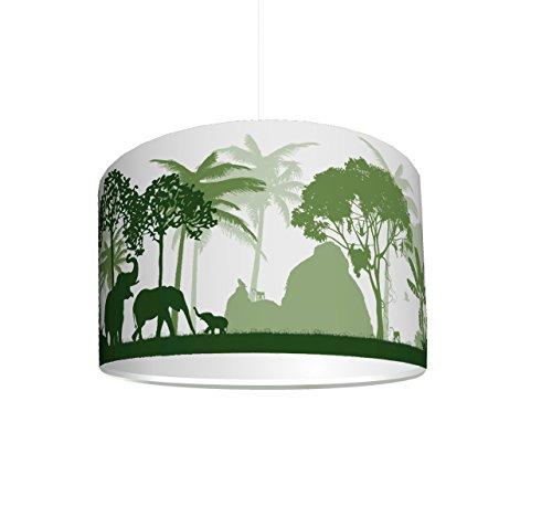 Lámpara Infantil pantalla Selva verde