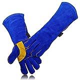LAIABOR Profi Schweißerhandschuhe Arbeits-Handschuhe Sicherheitshandschuhe Für Schweisser Auch Als Grillhandschuh