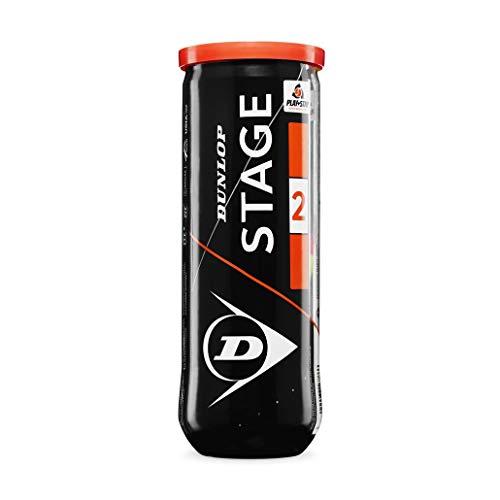 Dunlop 601339 Palla da Tennis Stage 2, Multicolore, 3 Ball Pet