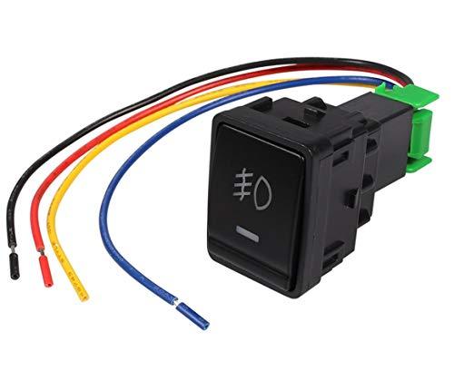 MEI - Interruptor de luces antiniebla de coche con cable de 5 pines de encendido y apagado para Nissan X-trail Qashqai Tiida, instalación de luces antiniebla es simple y el modelo es adecuado