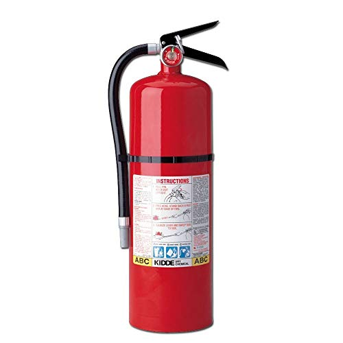 Kidde 466204 Pro 10 Multi-Purpose Fire Extinguisher, UL Rated 4-A, 60-B:C, Easy to Read Gauge, Easy to Pull Safety Pin, Pack of 4