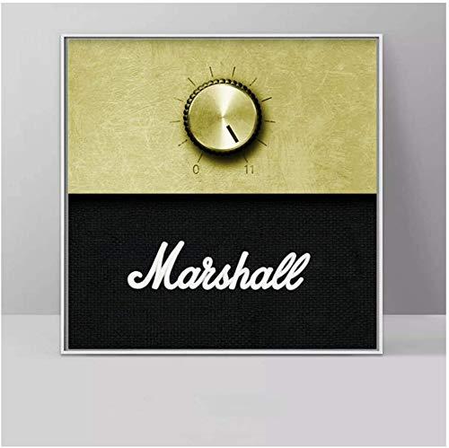 Surfilter Print auf Leinwand Marshall Amplifier Volume Knob Musikplakat Wandkunst Bilder für Wohnzimmer Dekorative Gemälde 19.6& rdquo; x19.6ABC 22 rdquo; (50x50cm) No Frame