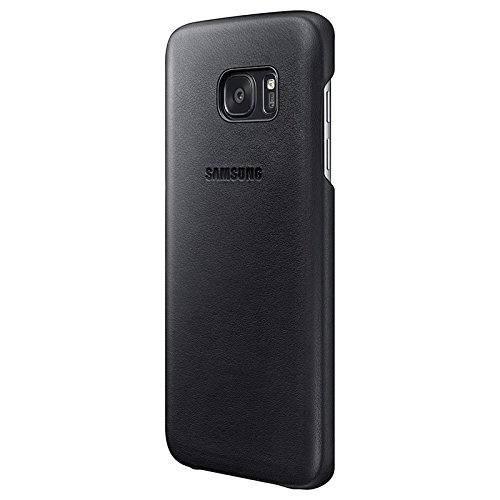 Samsung Coque en cuir pour Samsung Galaxy S7 Edge Noir