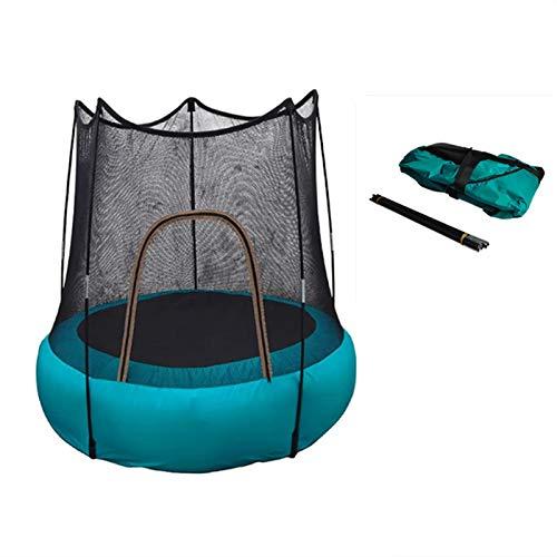 CUTEY Trampolín para Adultos y niños, Mini Fitness Plegable trampolín de rebaunder con Almohadilla de Seguridad para Ejercicios de jardín Interior