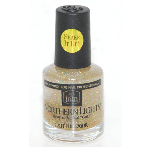 inm『Treatments Topcoats Northern Lights Gold(ノーザンライツ ホログラムトップコート ゴールド)』
