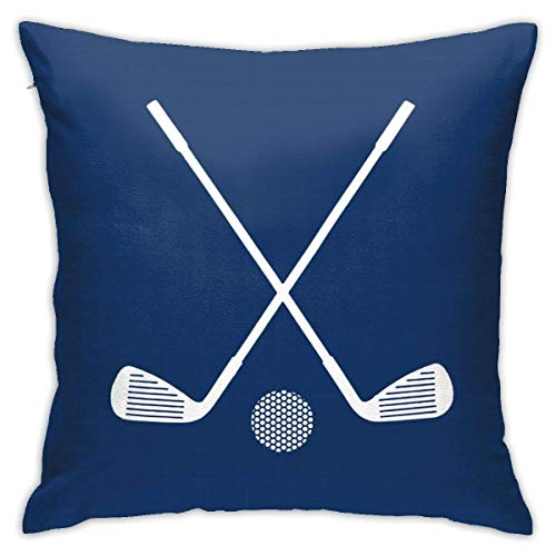 Golf Sports in Navy Blue Throw Pillow Covers Decorative 18x18 Inch Pillowcase Square Cushion Cases for Home Sofa Bedroom Livingroom