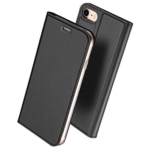 iphone6s ケース 手帳型 高級PU レザー iPhone6 ケース カバー 耐衝撃 カード収納 マグネット スタンド 機能付き 耐摩擦 人気 おしゃれ アイフォン6 手帳型ケース (iPhone6s/6, グレー)