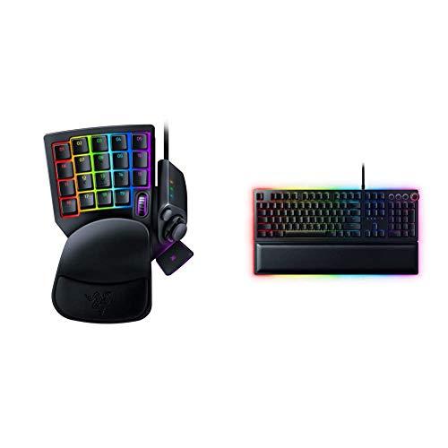 Razer Tartarus Pro Gaming Keypad: Analog-Optical Key Switches - Classic Black & Huntsman Elite Gaming Keyboard: Fastest Keyboard Switches Ever - Clicky Optical Switches - Classic Black