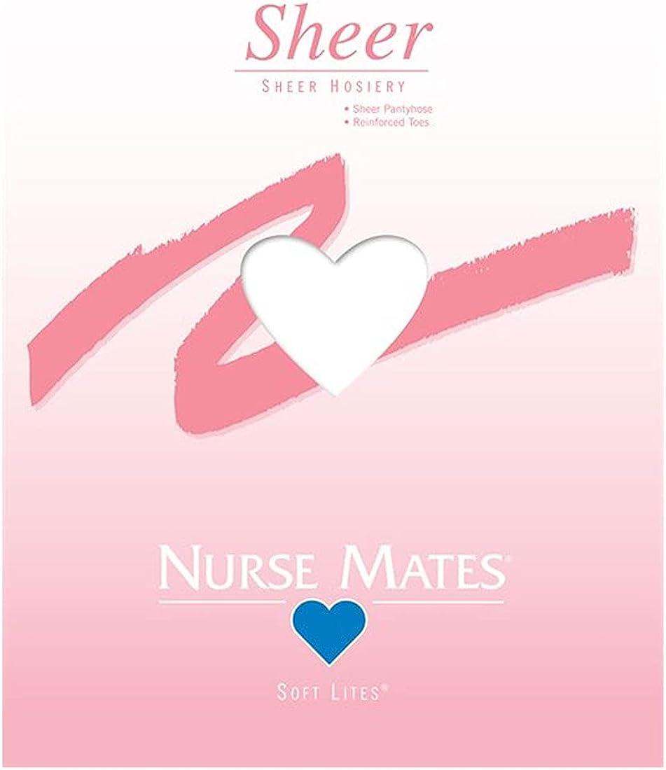Nurse Mates Women's White Soft Lites Sheer Pantyhose