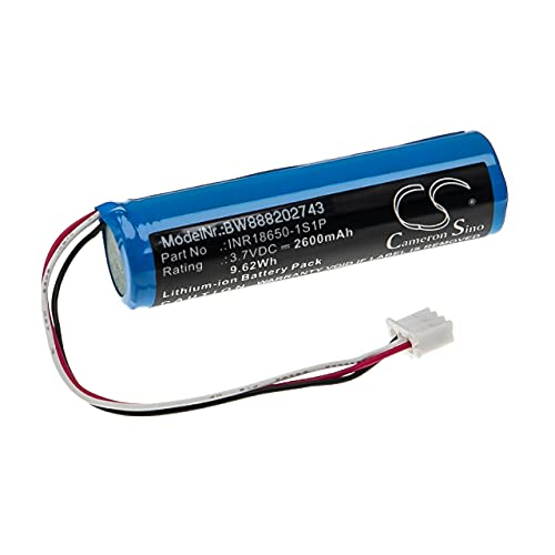 vhbw batteria sostituisce Theradome INR18650-1S1P per casco laser (2600mAh, 3,7V, Li-Ion)