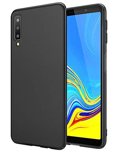 EIISSION Handyhülle für Samsung Galaxy A7 2018 Hülle, Hardcase Ultra Dünn Samsung Galaxy A7 2018 Schutzhülle aus Hart-PC Case Cover Handyhülle für Samsung Galaxy A7 2018- Schwarz
